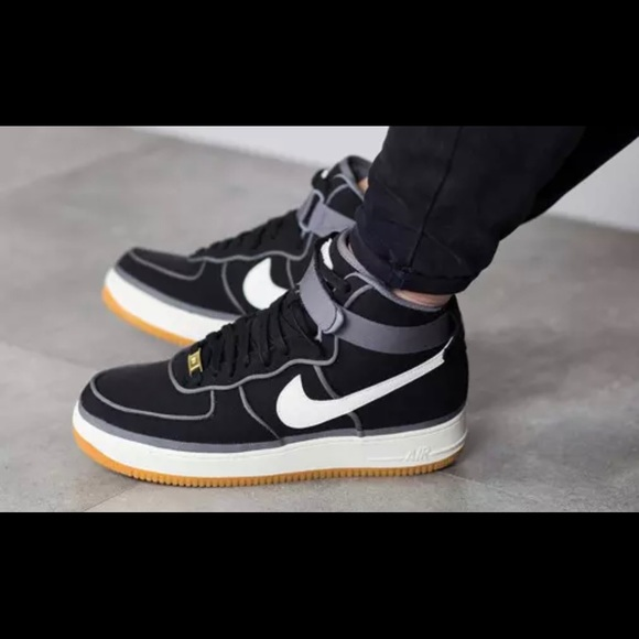 Nike Air Force 1 High Premium LE Black Black Sail,nike free